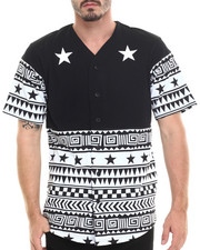 Men - Star / Tribal S/S Button-Down