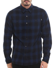 Men - Shadow Plaid L/S Button-down