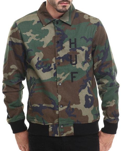 Huf - Men Camo Huf Classic Varsity Jacket