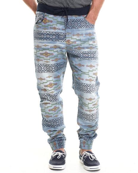 Parish - Men Dark Wash Aztec Denim Jeans