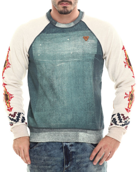 Parish - Men Dark Wash Printed Sweatshirt