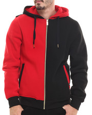 Akademiks - Wales Color Block Fleece Full Zip Hoody