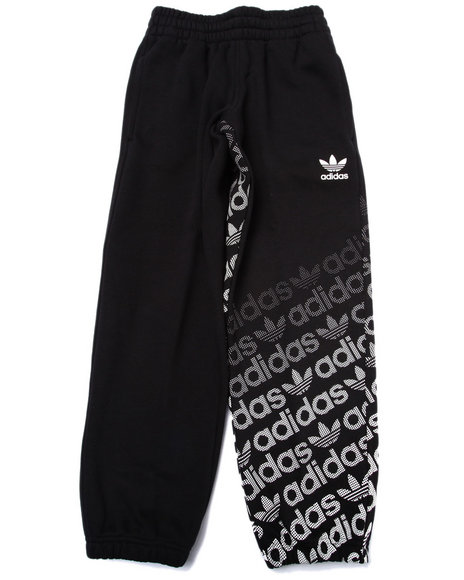 Adidas - Boys Black Junior Trefoil Fleece Pants