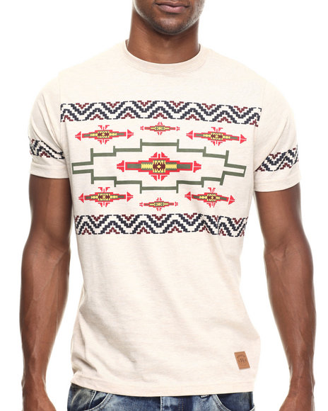 Parish - Men Khaki Aztec T-Shirt