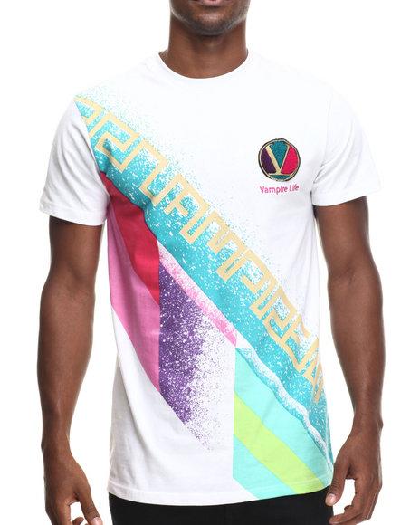 Vampire Life - Men White Vl Retro T-Shirt