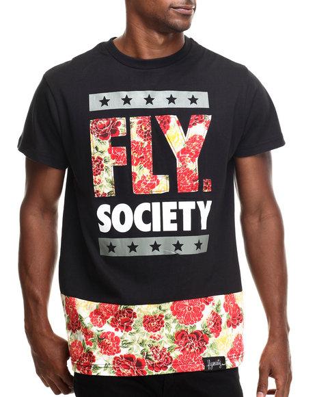 Flysociety - Men Black Rosary Long T-Shirt