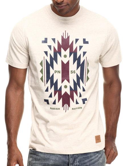 Parish - Men Khaki Aztec Graphic T-Shirt