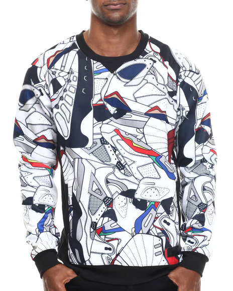 Entree - Men White His Airness Sweatshirt