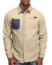 Parish - Patchwork Canvas L/S Button-Down