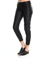 Skinny - Raw Radar Zip Ankle Biker Pleather Jean