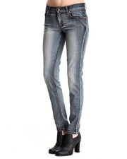 Versace Jeans - Contrast Pindot Skinny Jeans