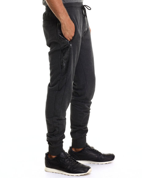Puma - Men Charcoal Slim Snake Sweatpants
