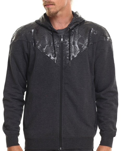 Puma - Men Animal Print,Black Snake Print Hoodie