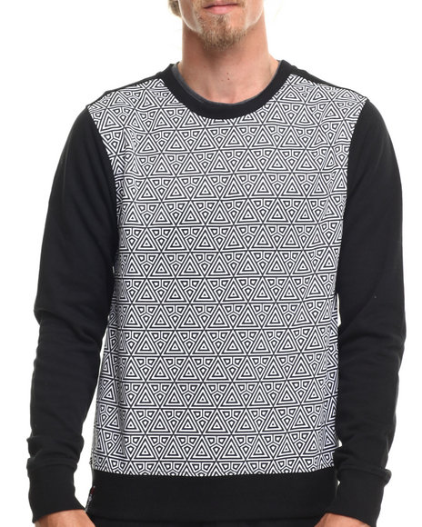 Enyce - Men Black Native Tounge Geo Print Sweatshirt
