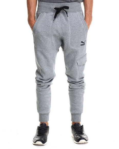 Puma - Men Grey Cargo Slim Sweatpants