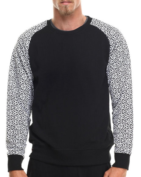 Enyce - Men Black Maseo Geo Print Sweatshirt