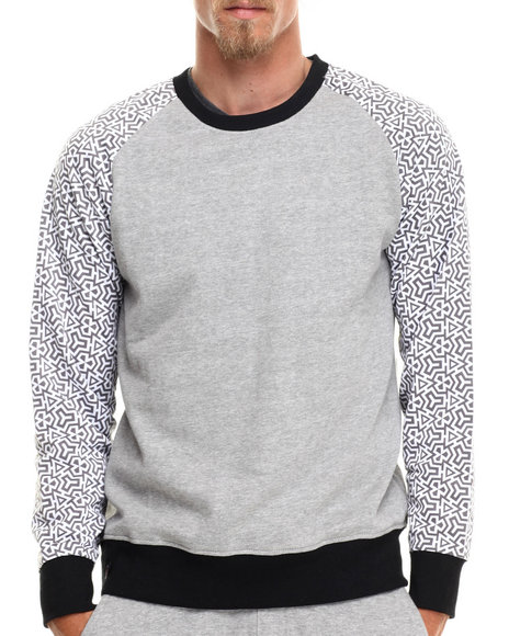 Enyce - Men Grey Maseo Geo Print Sweatshirt