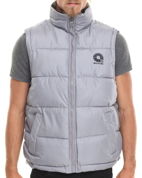 Ur-ID 186083 Akademiks - Men Grey Outback Padded Bubble Vest