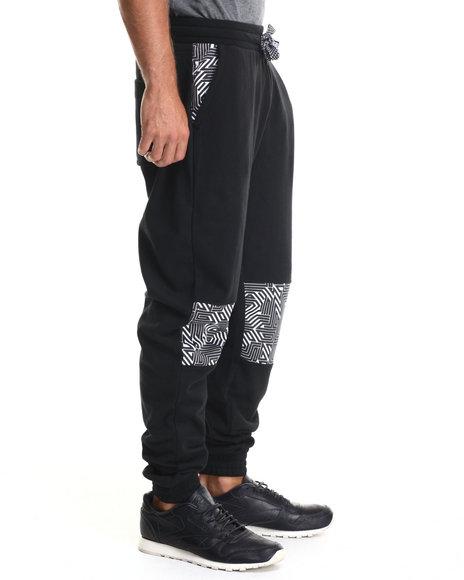 Enyce - Men Black Talib Geo Print Sweatpants