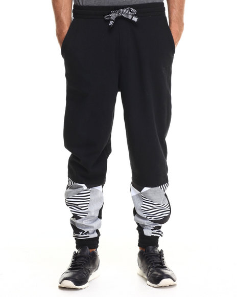 Enyce - Men Black Puba Geo Print Sweatpants