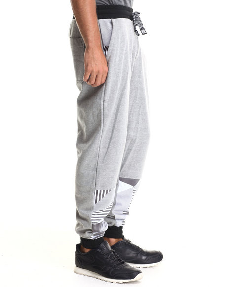 Enyce - Men Grey Puba Geo Print Sweatpants