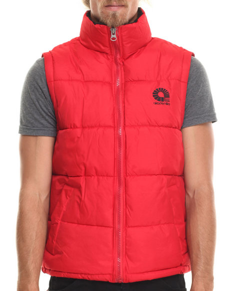 Akademiks - Men Red Outback Padded Bubble Vest - $19.99