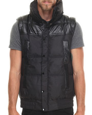 Akademiks - Artic Padded Coated/Faux Leather Vest