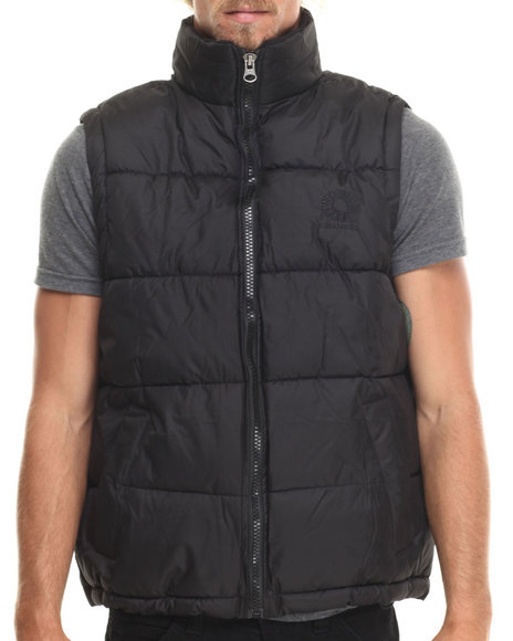 Akademiks - Men Black Outback Padded Bubble Vest