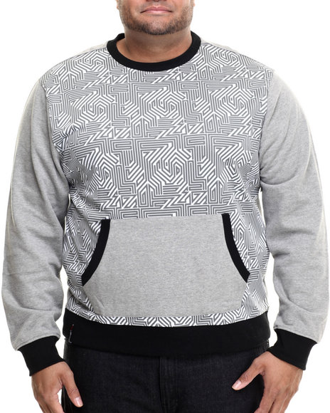 Enyce - Men Grey Hi-Tek Sweatshirt W/ Front Pocket Pouch (B&T)