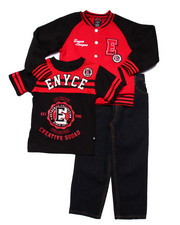 Sets - 3 PC SET - VARSITY JKT, TEE, & JEANS (4-7)