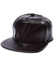 Men - NY Leather Strapback