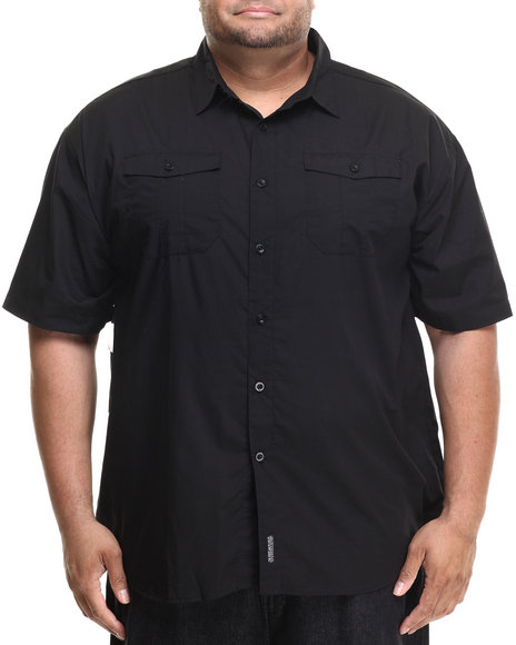 Ecko - Men Black Independent S/S Button-Down (B&T)