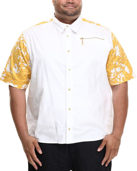 Eight 732 - Men White Laurel Nouvelle S/S Button-Down (B&T)