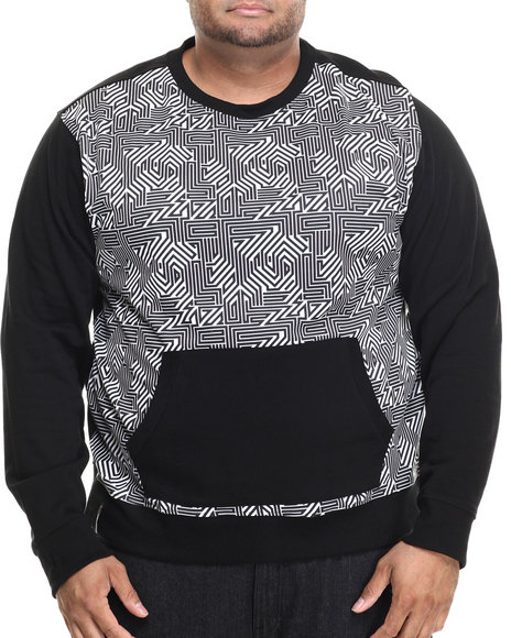 Enyce - Men Black Hi-Tek Sweatshirt W/ Front Pocket Pouch (B&T) - $26.99