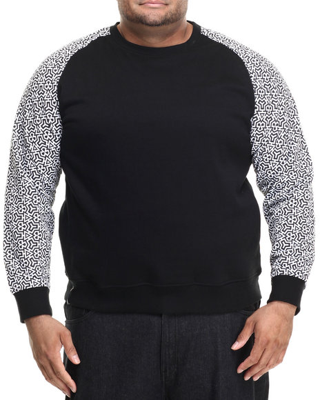 Enyce - Men Black Maseo Raglan W/ Printed Sleeves (B&T)