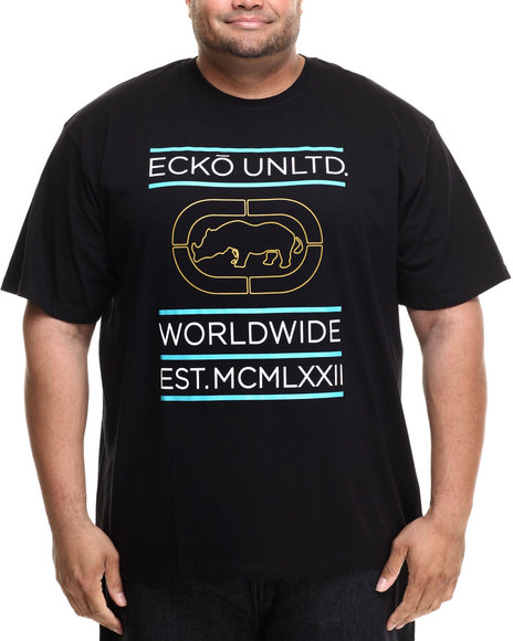 Ecko - Men Black Foil Brackets T-Shirt (B&T)