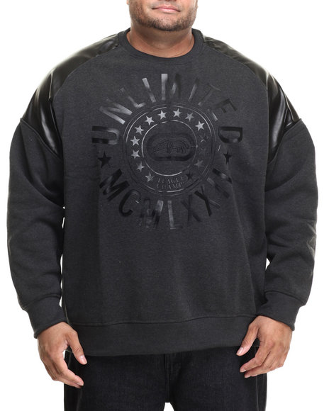 Ecko - Men Charcoal Shoulder Guard Sweatshirt (B&T)