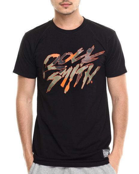 Rocksmith - Men Orange Logo Geometrics T-Shirt