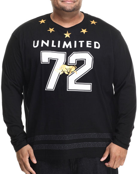 Ecko - Men Black Seeing Stars L/S T-Shirt (B&T)