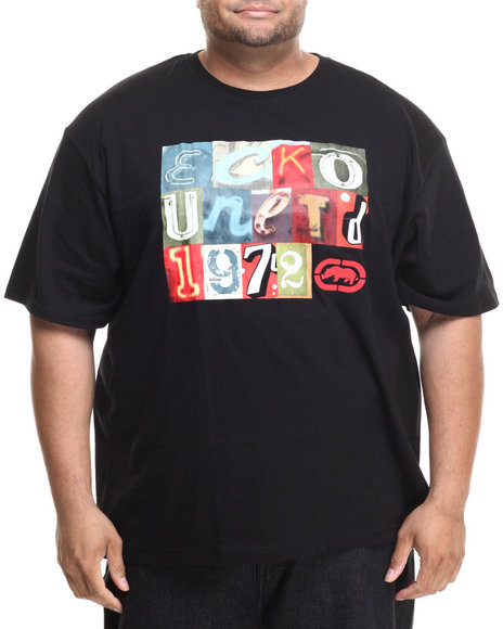 Ecko - Men Black Vintage Signs T-Shirt (B&T) - $27.99