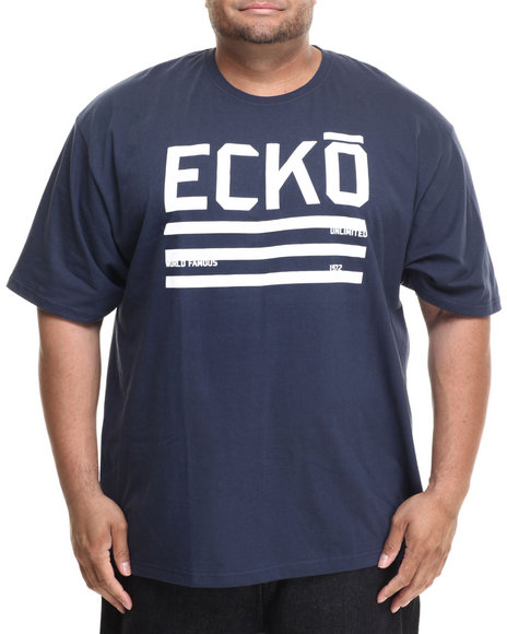 Ecko - Men Navy Ecko Flag T-Shirt (B&T)