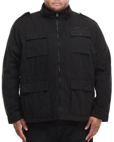 Ur-ID 185877 Levi's - Men Black Chandler 4-Pocket Utility Jacket (B&T)