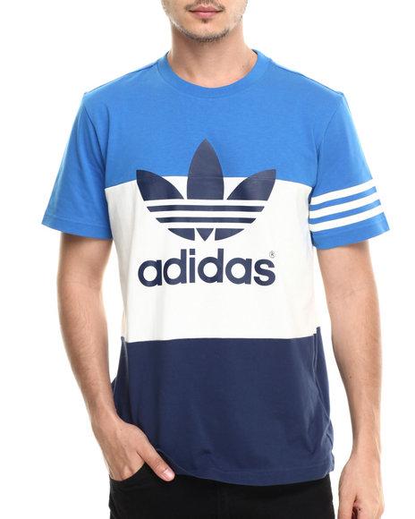 Adidas - Men Blue Colorblock Tee - $32.99