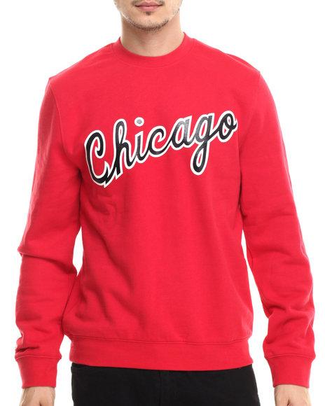 Mitchell & Ness - Men Red Chicago Bulls 85-85 Wordmark Sweatshirt