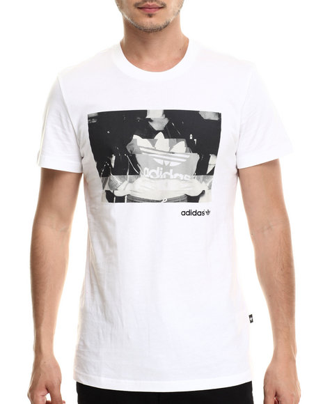 Adidas - Men White Girl Glitch Photo Tee