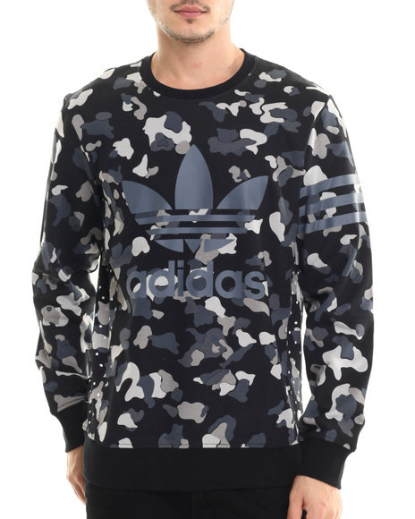 Adidas - Men Black Camo Sweatshirt - $70.00