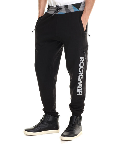 Rocksmith - Men Black Alpine Slim Sweats