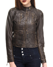 Women - Classic Vegan Leather Jacket