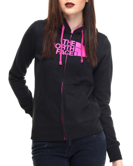 The North Face - Women Black Half Dome Full Zip Hoodie