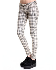 Bottoms - Skinny Plaid Pant